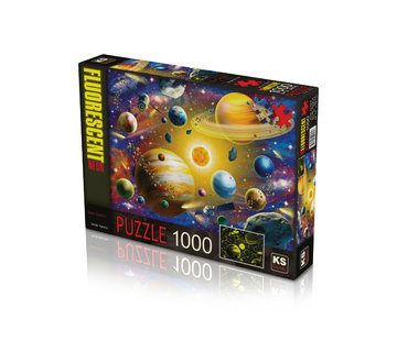 KS Games Solar System Glow in the Dark Puzzle 1000 Pieces