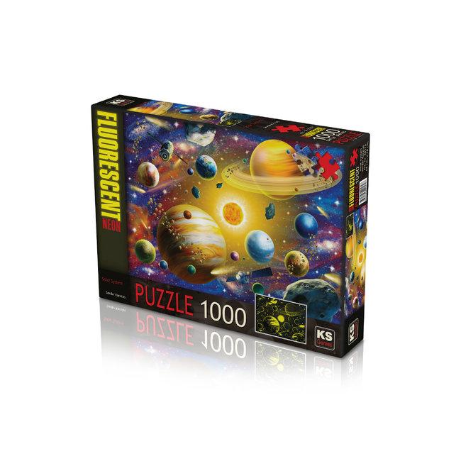 KS Games Solar System Floureszierende Puzzle 1000 Stück