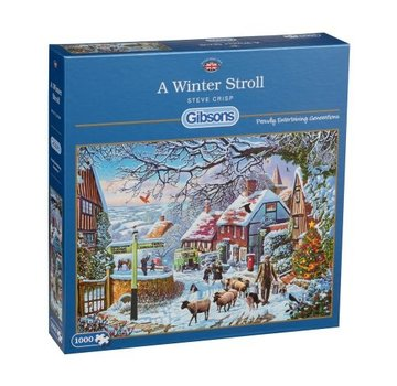 Gibsons A Winter Stroll Puzzle pieces 1000