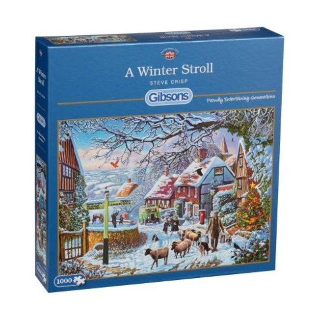 Gibsons Ein Winter Stroll Puzzle-Stücke 1000