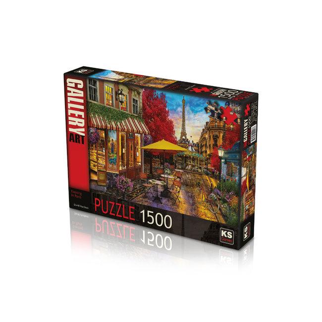 Abend in Paris 1500 Puzzleteile