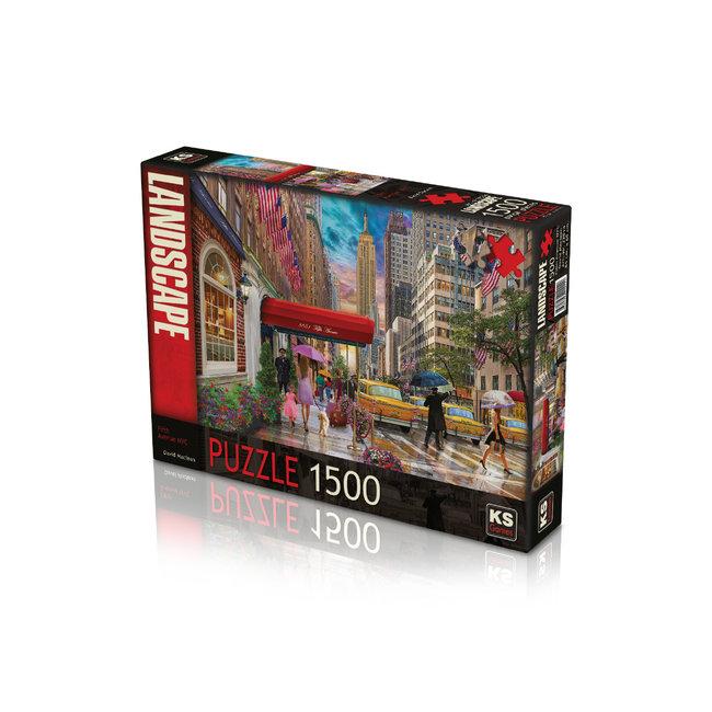 KS Games Fünfzig Avenue NYC 1500 Puzzle Pieces