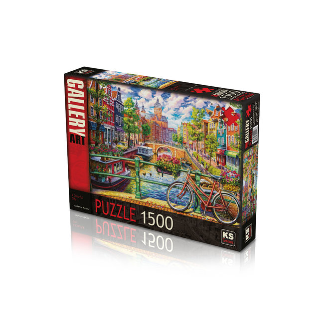 A Colorful City Puzzel 1500 Stukjes