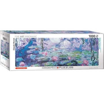Eurographics Water Lilies - Claude Monet Panorama Puzzle 1000 Pieces
