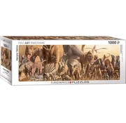 Eurographics Dinosaurs - Haruo Takino Panorama Puzzel 1000 Stukjes
