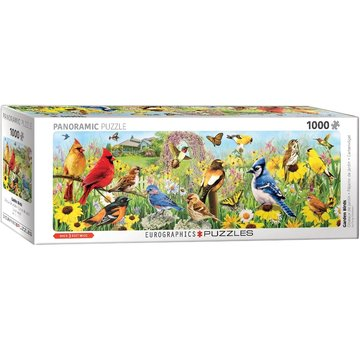 Eurographics Garden Birds - Greg Giordano Panorama Puzzel 1000 Stukjes