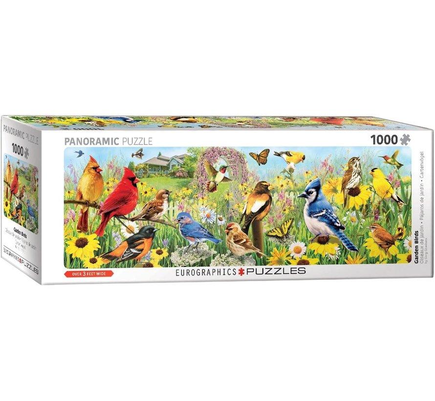 Garden Birds - Greg Giordano Panorama Puzzel 1000 Stukjes