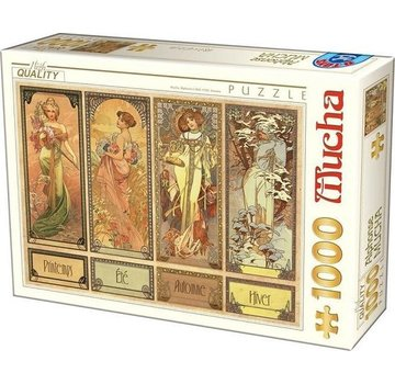Dtoys Alphonse Mucha 1000 Puzzle Pieces