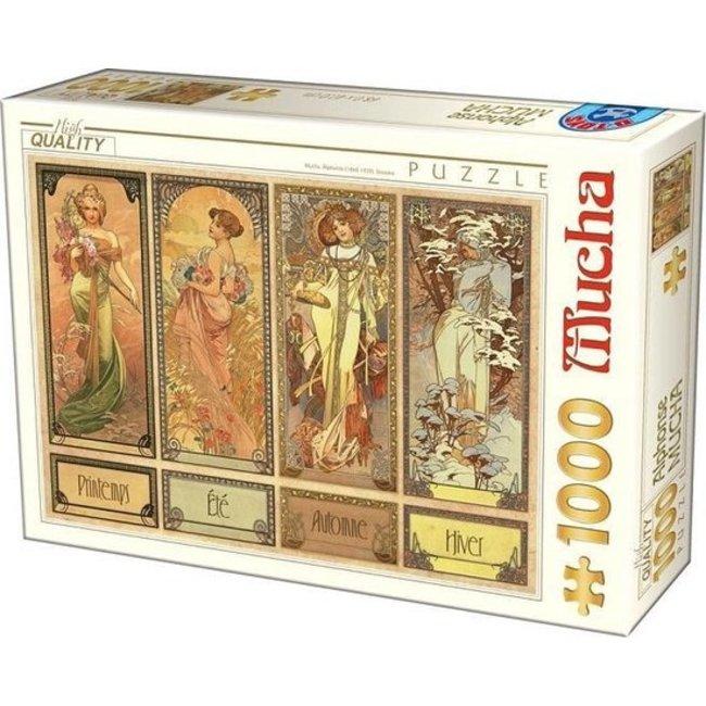 Alphonse Mucha 1000 Puzzle Pieces