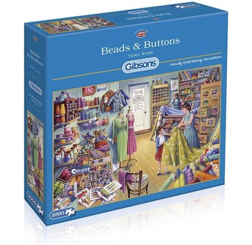 Gibsons Beads & Buttons 1000 Puzzle Pieces