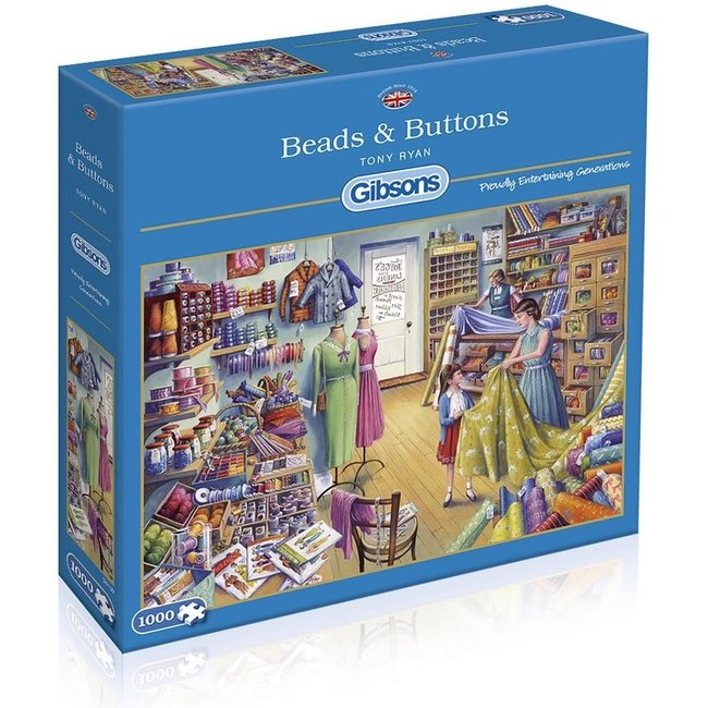 Gibsons Beads & Buttons 1000 Puzzleteile