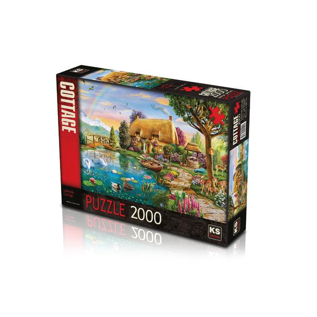 KS Games Lakeside Cottage Puzzel 2000 Stukjes