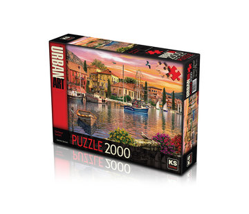 KS Games Harbour Sunset Puzzel 2000 Stukjes