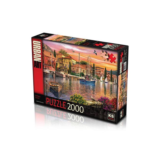 KS Games Hafen-Sonnenuntergang Puzzle 2000 Stück