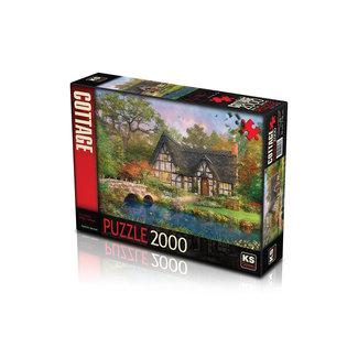 KS Games Das Stoney Bridge Cottage 2000 Puzzle Pieces