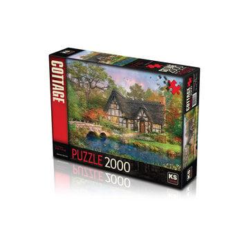 KS Games The Stoney Bridge Cottage 2000 Puzzle Pieces