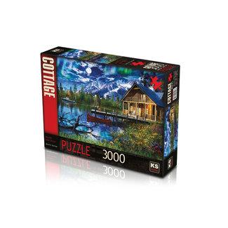 KS Games Moonlit Lake House Puzzel 3000 Stukjes