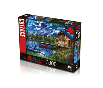 KS Games Moonlit Lake House Puzzel 3000 Stukjes