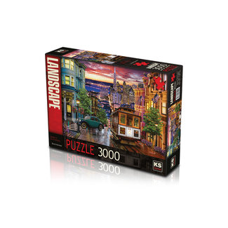 KS Games Sunset in San Francisco Puzzel 3000 Stukjes