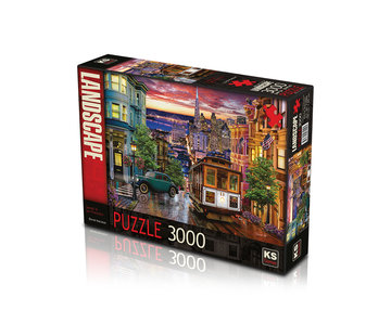 KS Games Sunset in San Francisco Puzzel 3000 Stukjes