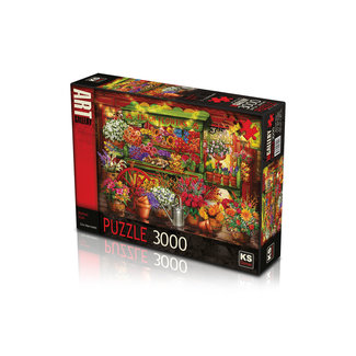 KS Games Market Stall Puzzel 3000 Stukjes
