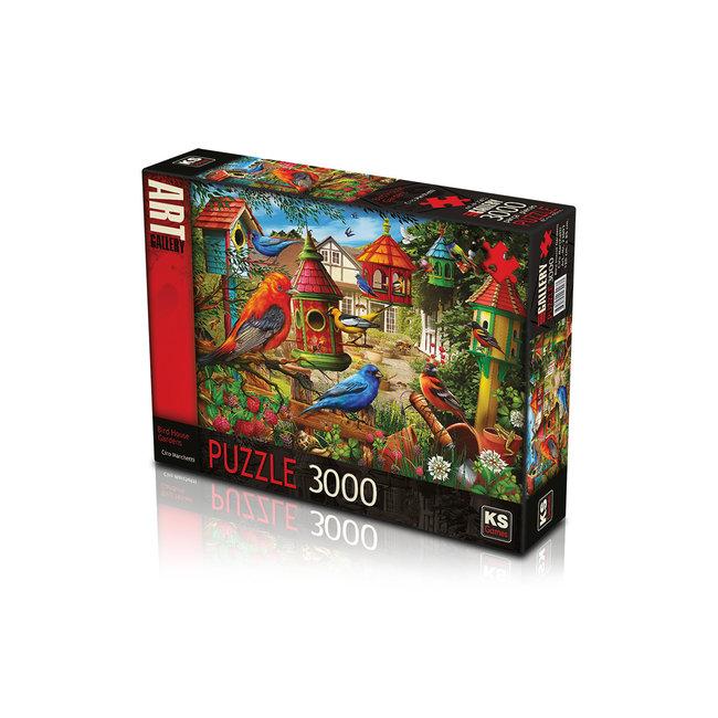 KS Games Bird House Gardens Puzzel 3000 Stukjes