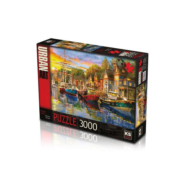 KS Games 3000 Harbor Lights Puzzle Pieces