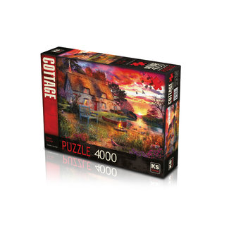 KS Games Sunset Cottage Puzzel 4000 Stukjes