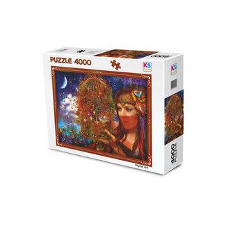 KS Games Her Butterfly Fairytale Puzzel 4000 Stukjes