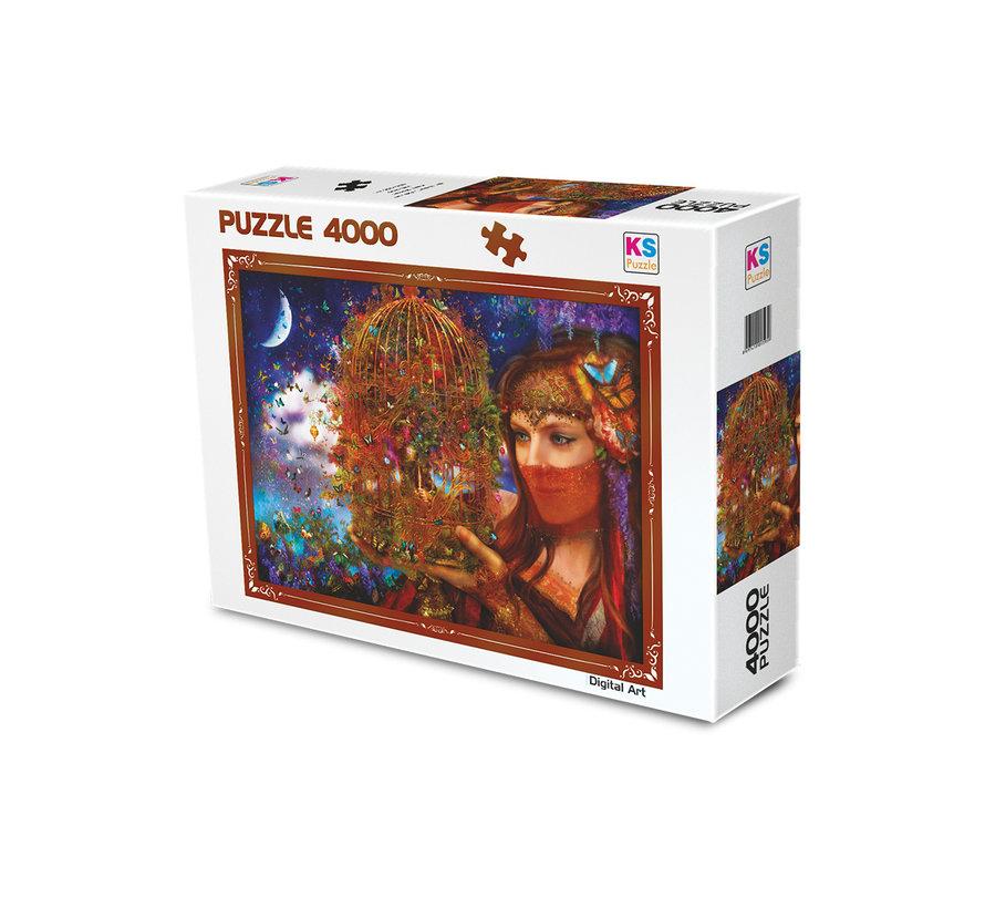 Her Butterfly Fairytale Puzzel 4000 Stukjes