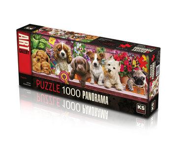 KS Games Puppies Puzzel 1000 Stukjes Panorama