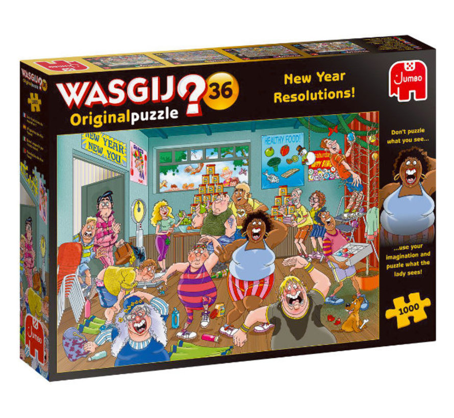 Wasgij Original 36 New Year Resolutions 1000 Puzzle pieces
