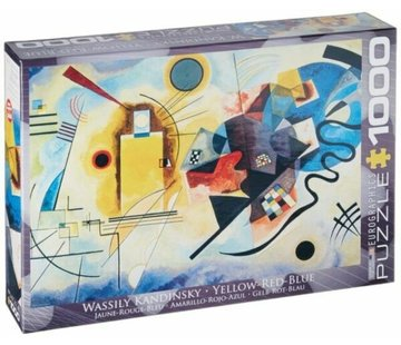 Eurographics Yellow Red Blue - Wassily Kandinsky Puzzel 1000 Stukjes