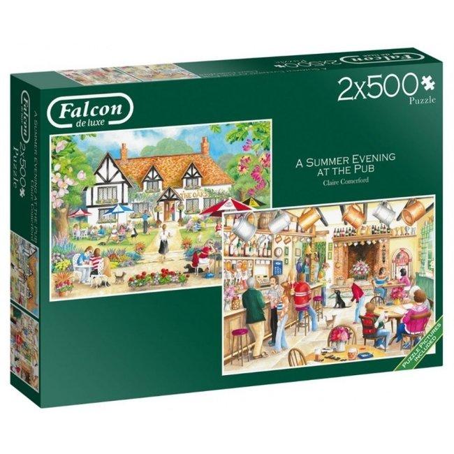 Falcon Ein Sommerabend im Pub 2x 500 Puzzle Pieces