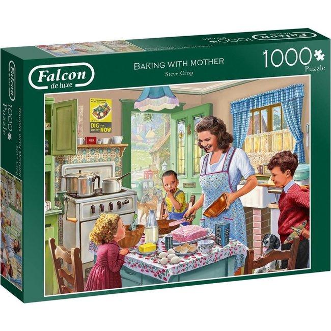 Backen mit Mutter Puzzle-Stücke 1000