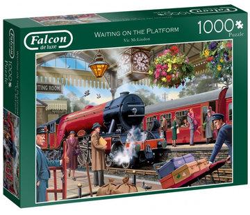 Falcon Waiting on the Platform Puzzel 1000 Stukjes