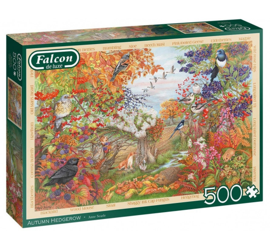 Autumn Hedgerow Puzzel 500  Stukjes