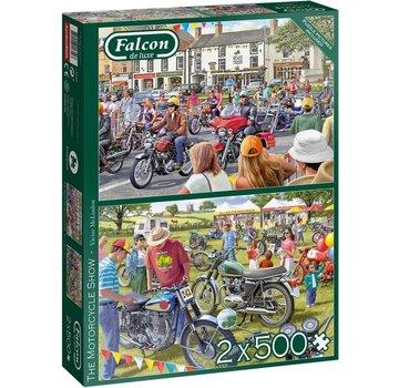 Falcon The Motorcycle Show Puzzel 2x 500 Stukjes