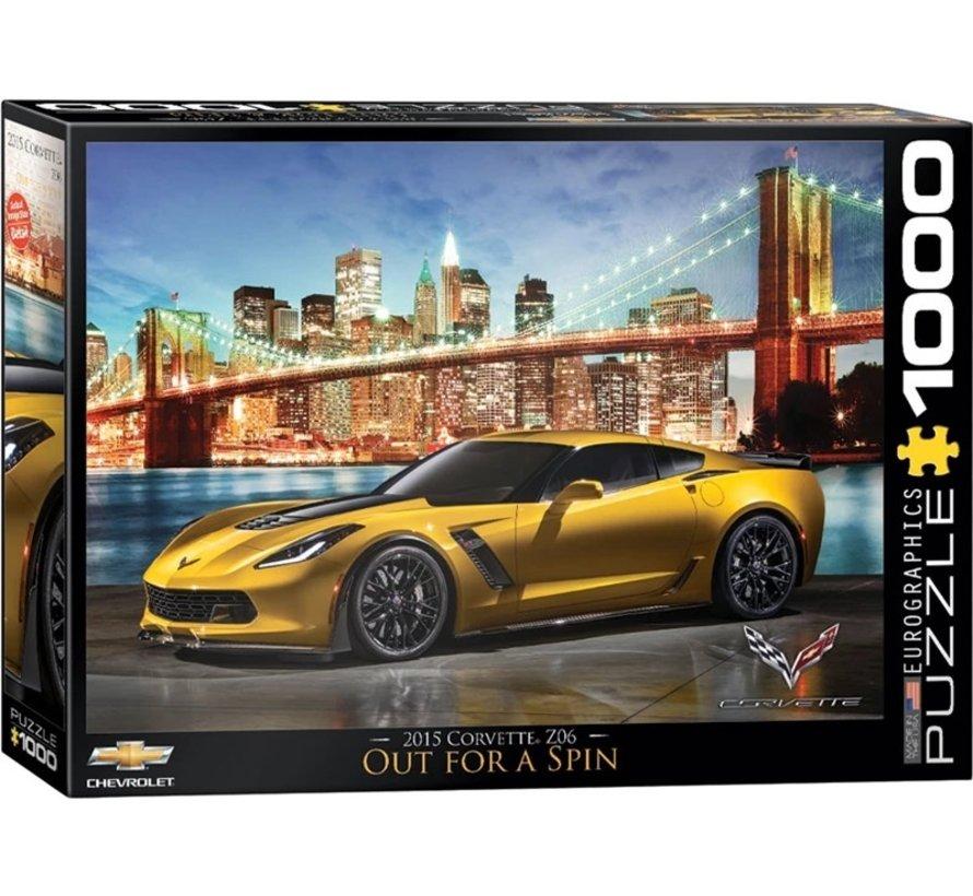 Corvette Z06 Out for a Spin Puzzel 1000 Stukjes