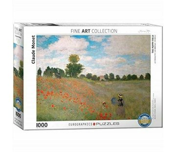 Eurographics The Poppy Field - Claude Monet Puzzel 1000 Stukjes