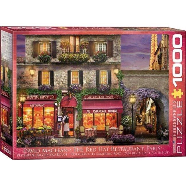Eurographics Die Red Hat Restaurant Paris 1000 Puzzleteile