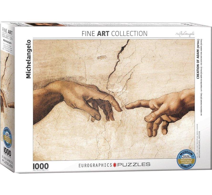 Creation of Adam (Detail) - Michelangelo Puzzel 1000 Stukjes