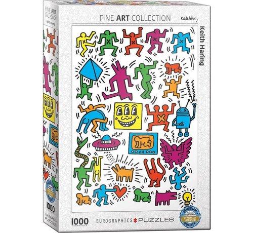 Eurographics Collage - Keith Haring Puzzel 1000 Stukjes