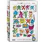 Collage - Keith Haring Puzzel 1000 Stukjes