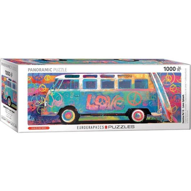 Eurographics Samba Pa Ti - Love Bus VW Panorama Puzzle 1000 Stück