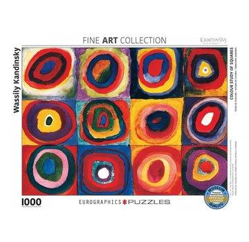 Eurographics Colour Study of Squares - Wassily Kandinsky Puzzel 1000 Stukjes
