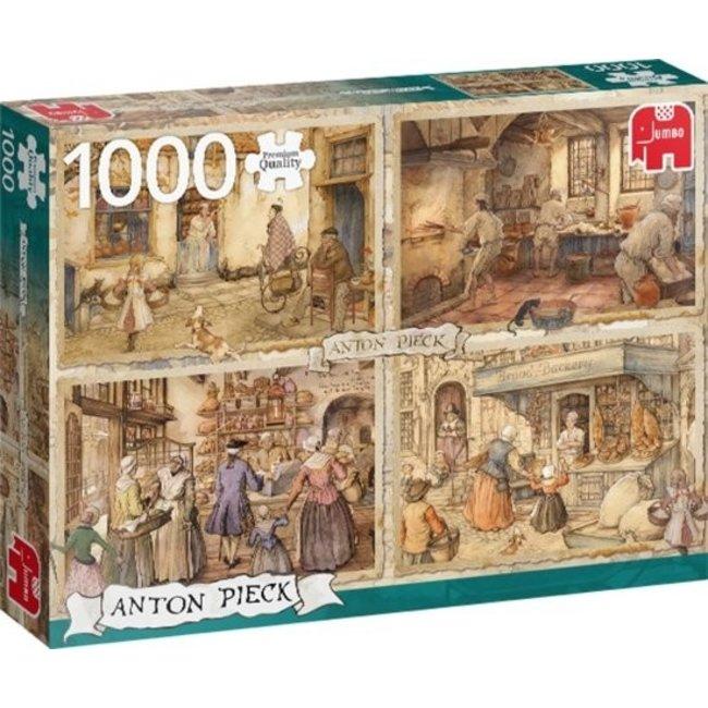 Anton Pieck 19. Jahrhundert Bäckereien 1000 Puzzle Pieces