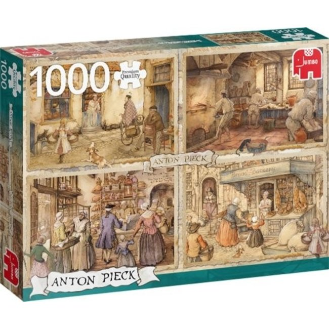 Anton Pieck 19e Eeuwse Bakkers Puzzel 1000 Stukjes