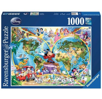 Ravensburger Disney World Map 1000 Puzzle Pieces
