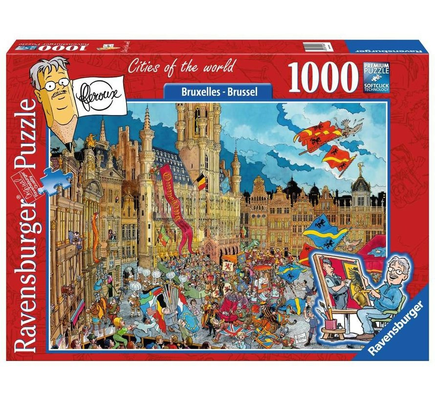 Fleroux Brussel Puzzel 1000 Stukjes